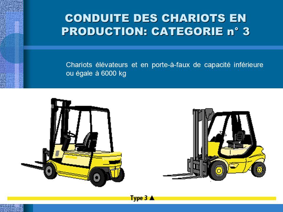 CONDUITE DES CHARIOTS EN PRODUCTION: CATEGORIE n° 3