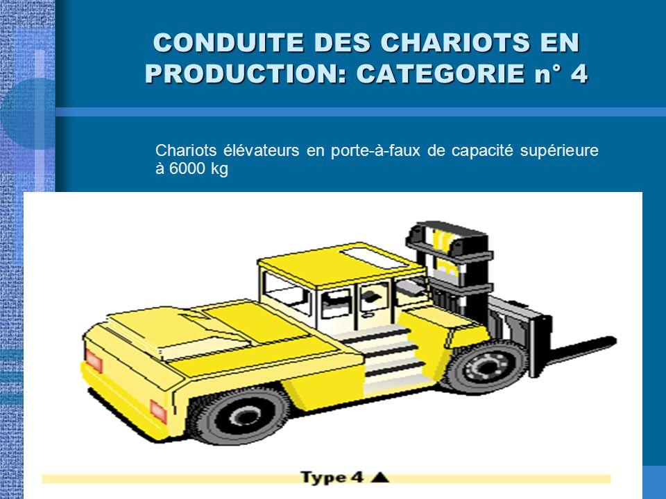 CONDUITE DES CHARIOTS EN PRODUCTION: CATEGORIE n° 4