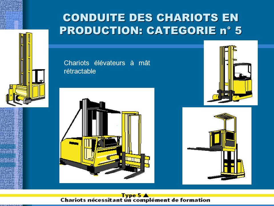 CONDUITE DES CHARIOTS EN PRODUCTION: CATEGORIE n° 5