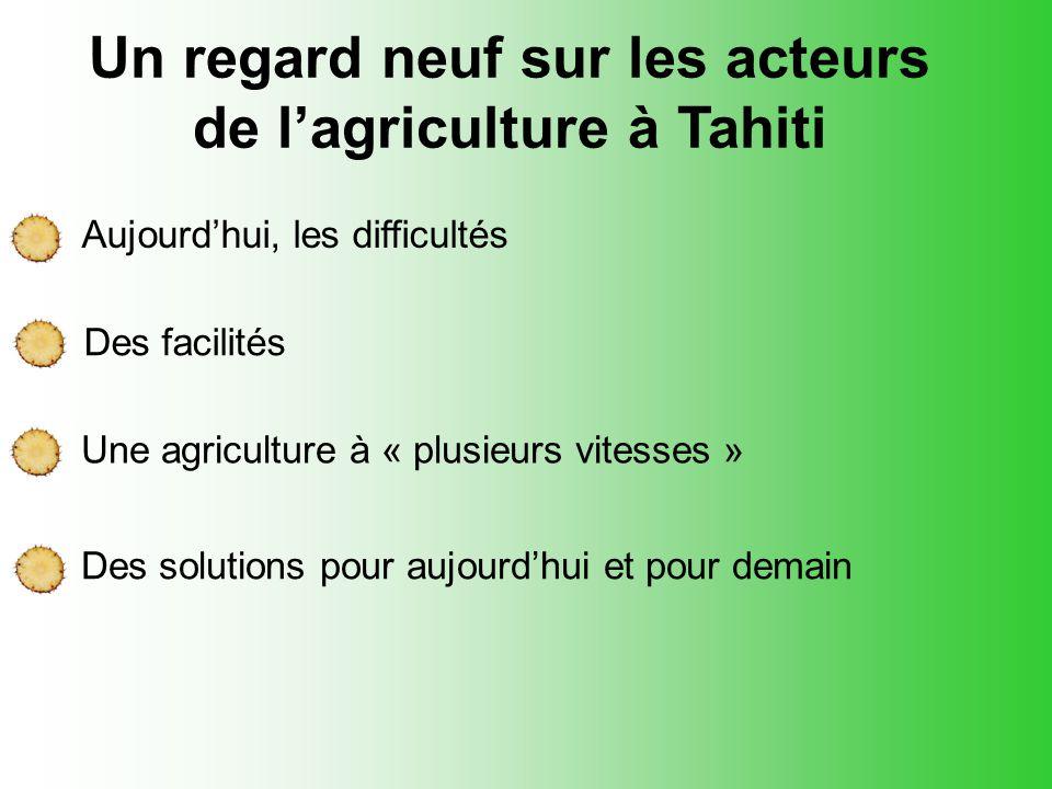 Un regard neuf sur les acteurs de l'agriculture à Tahiti