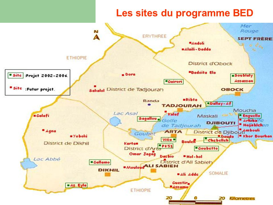 Les sites du programme BED