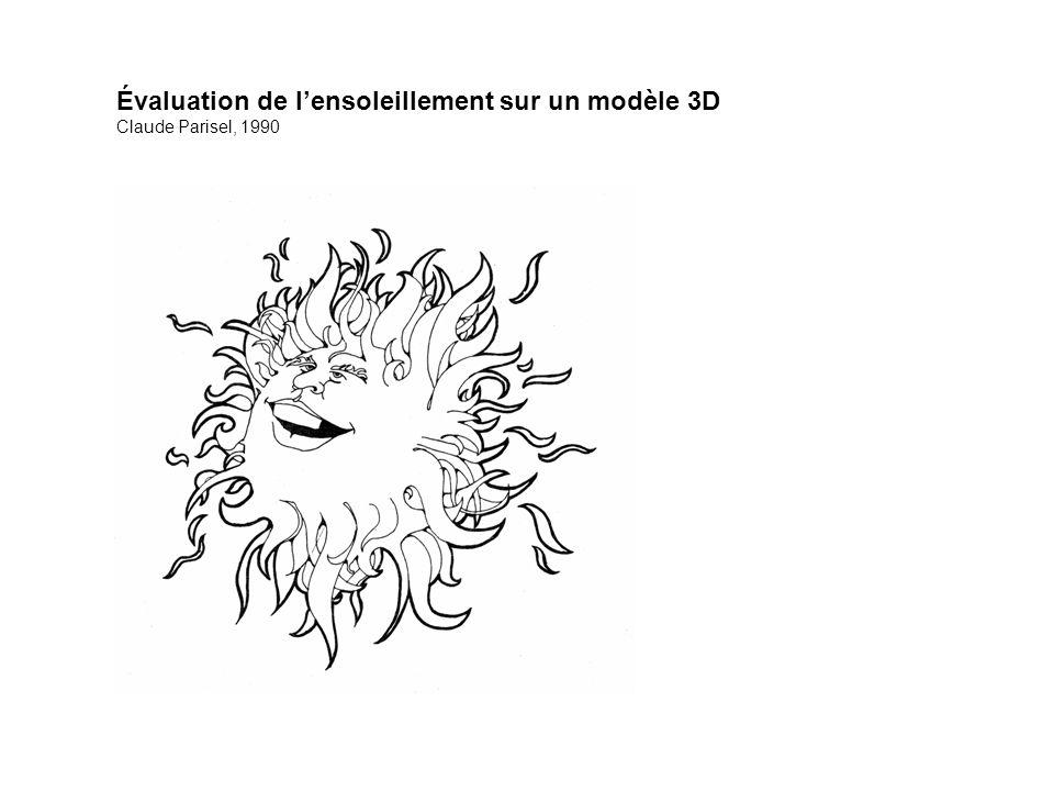 Évaluation de l'ensoleillement sur un modèle 3D