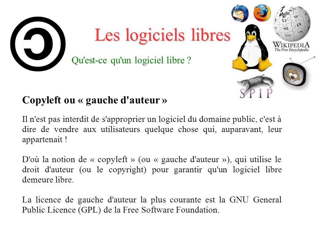 Qu est-ce qu un logiciel libre
