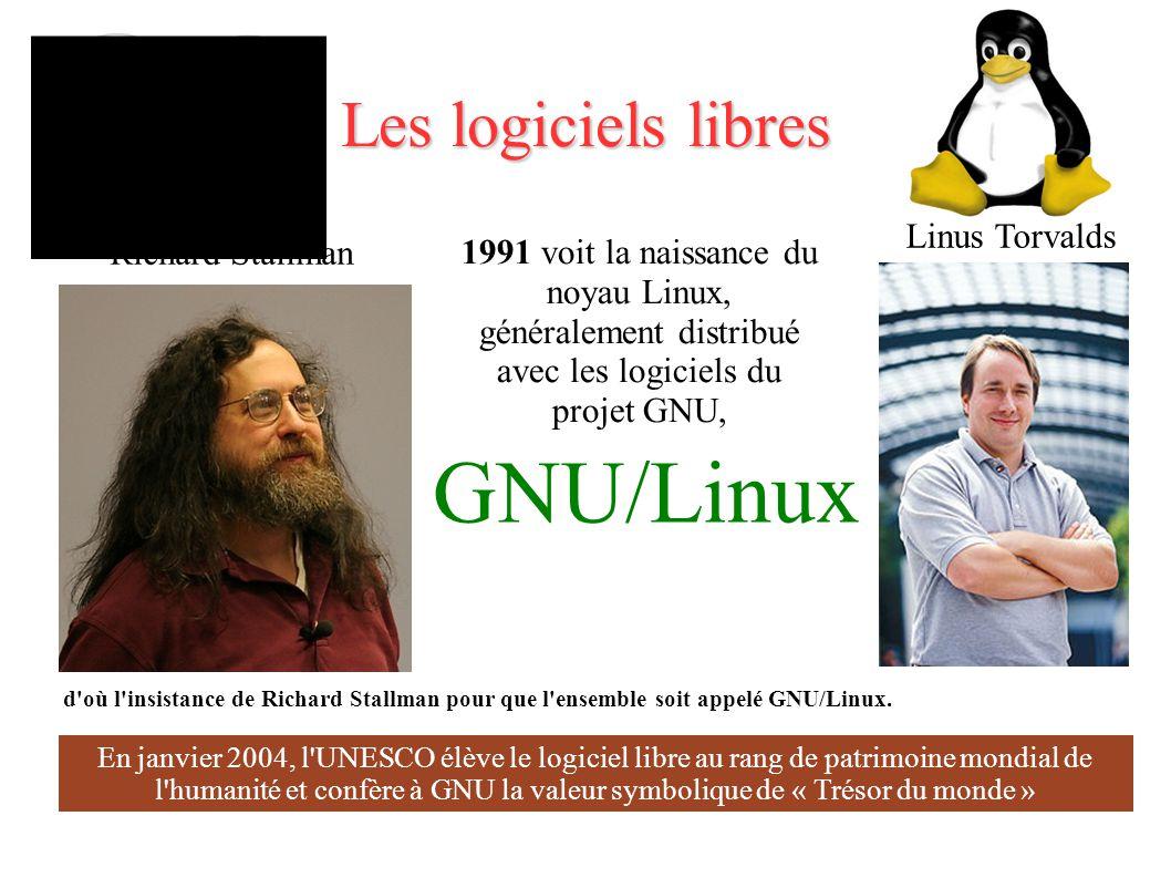 GNU/Linux Les logiciels libres Linus Torvalds Richard Stallman