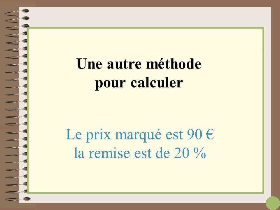Une autre méthode pour calculer