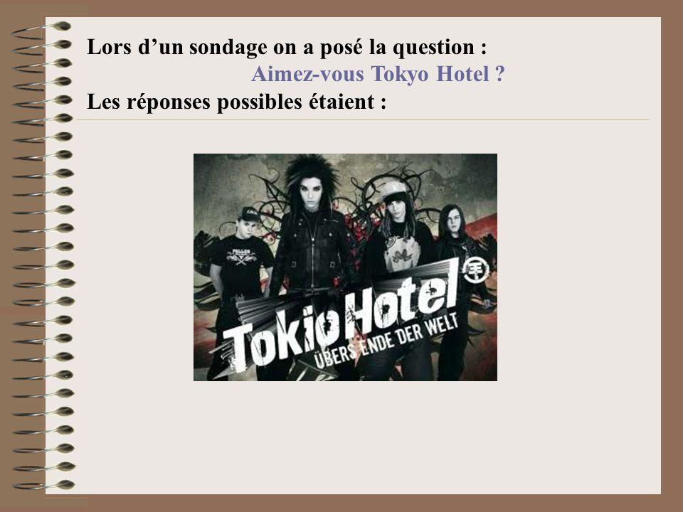 Aimez-vous Tokyo Hotel