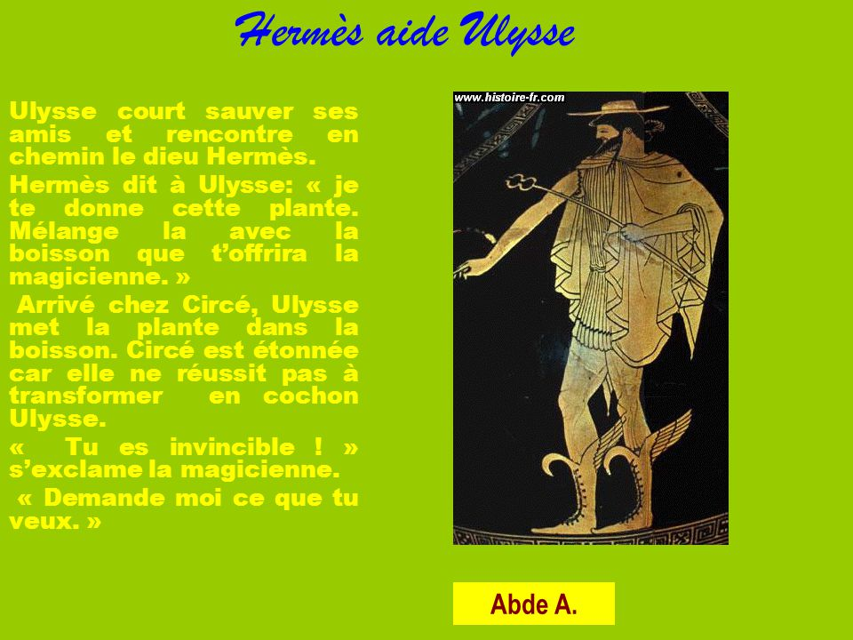 Hermès aide Ulysse Abde A.