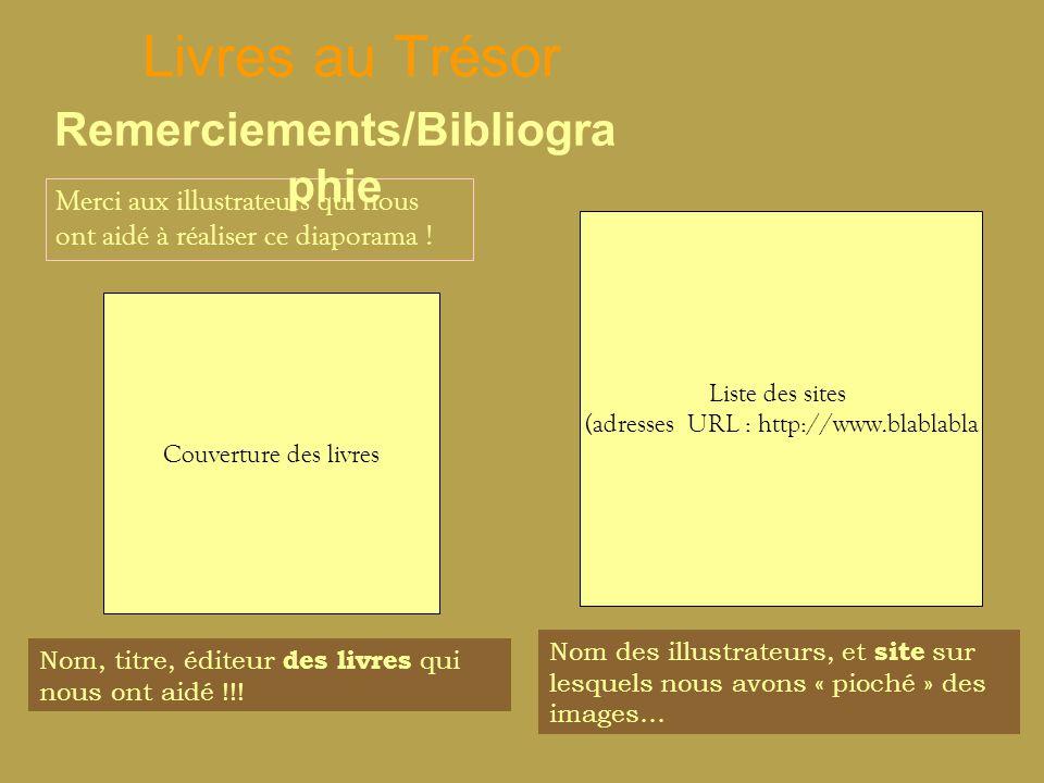 Remerciements/Bibliographie