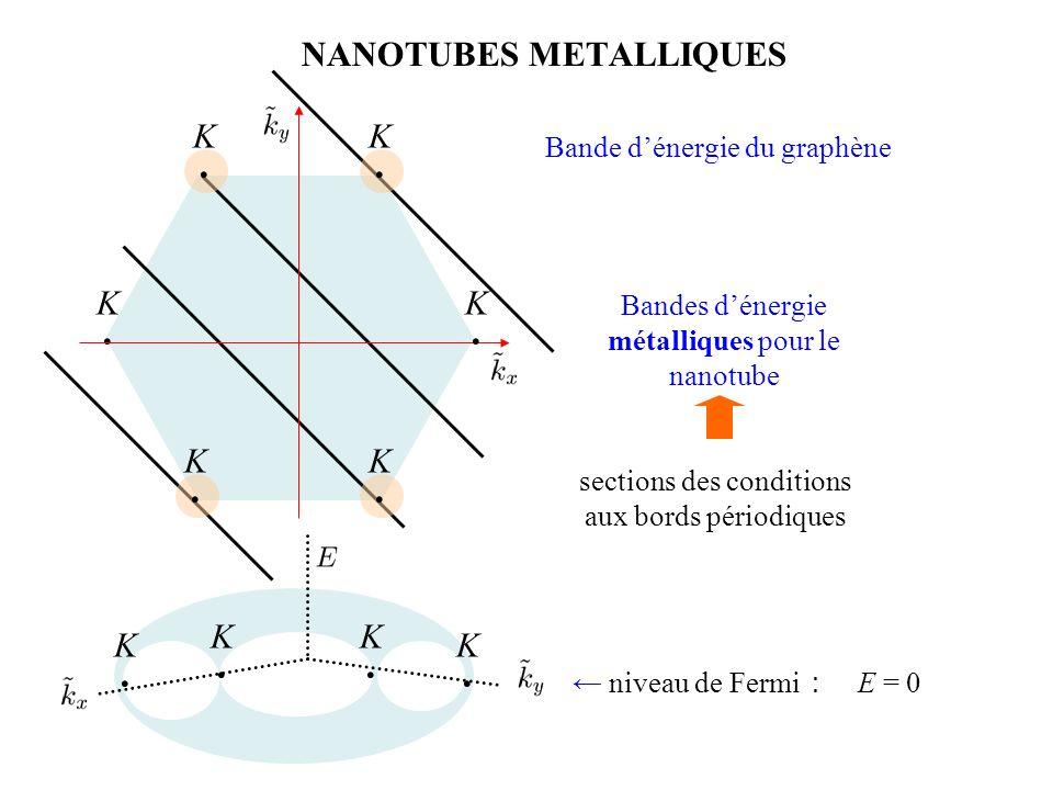 NANOTUBES METALLIQUES