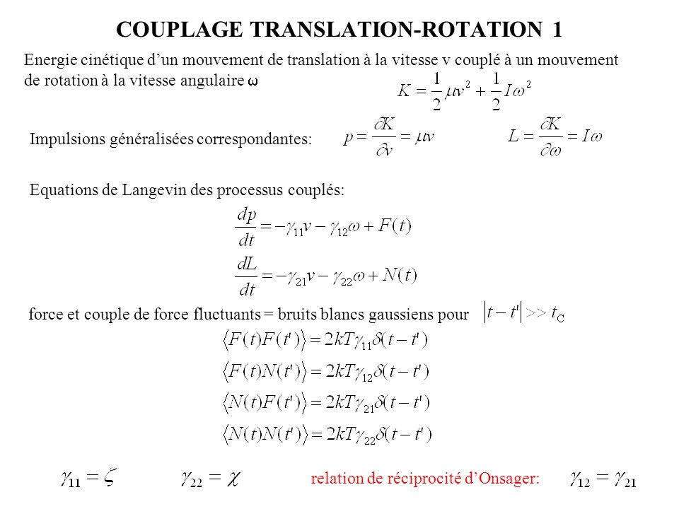 COUPLAGE TRANSLATION-ROTATION 1