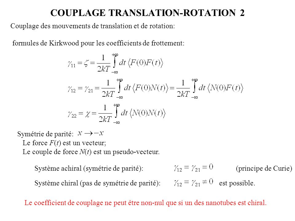 COUPLAGE TRANSLATION-ROTATION 2