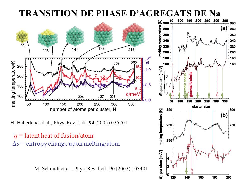 TRANSITION DE PHASE D'AGREGATS DE Na
