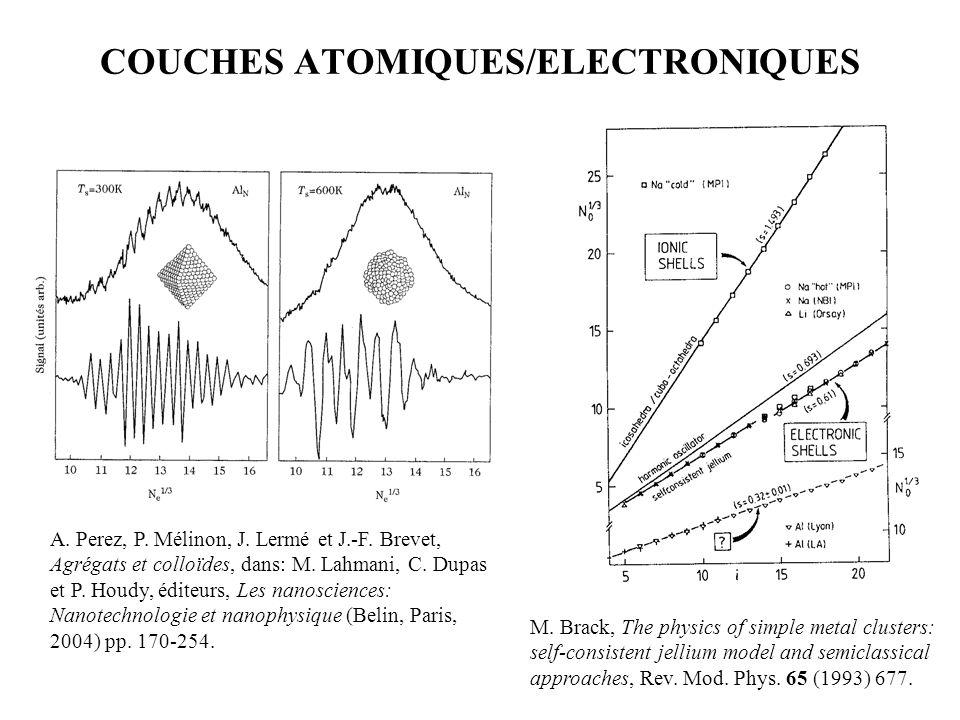 COUCHES ATOMIQUES/ELECTRONIQUES