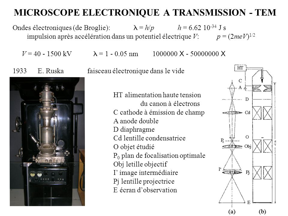 MICROSCOPE ELECTRONIQUE A TRANSMISSION - TEM