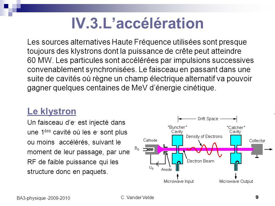 IV.3.L'accélération
