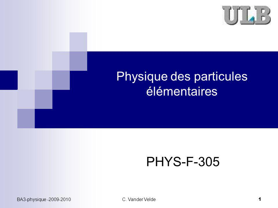 Physique des particules élémentaires