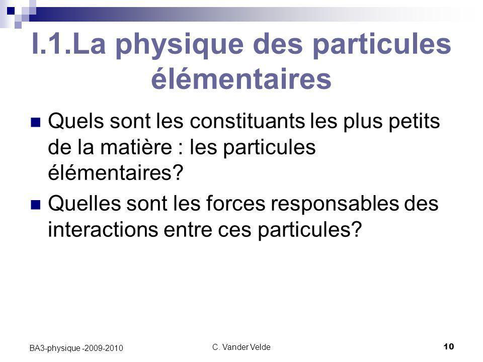 I.1.La physique des particules élémentaires