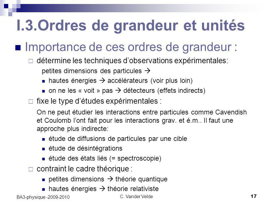 I.3.Ordres de grandeur et unités
