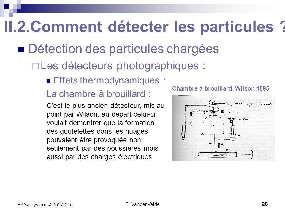II.2.Comment détecter les particules