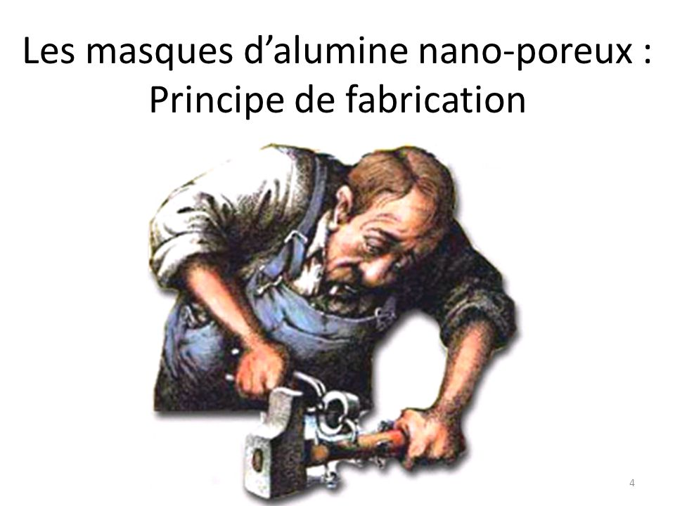 Les masques d'alumine nano-poreux : Principe de fabrication