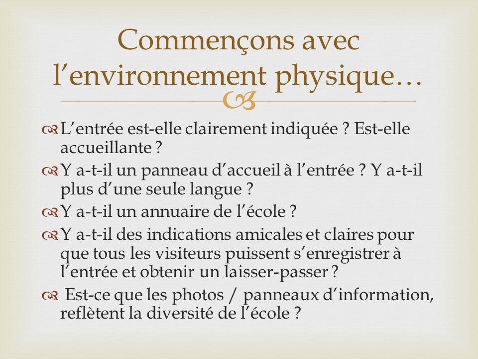 Commençons avec l'environnement physique…