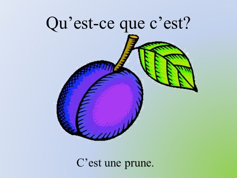 Qu'est-ce que c'est C'est une prune.