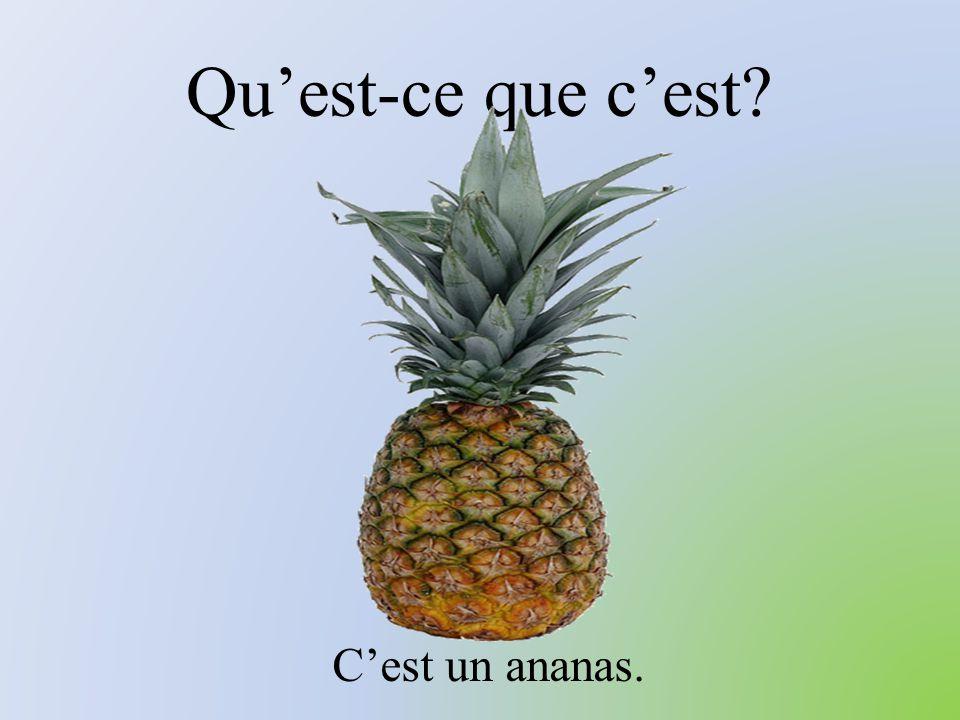 Qu'est-ce que c'est C'est un ananas.