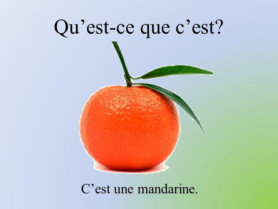 Qu'est-ce que c'est C'est une mandarine.