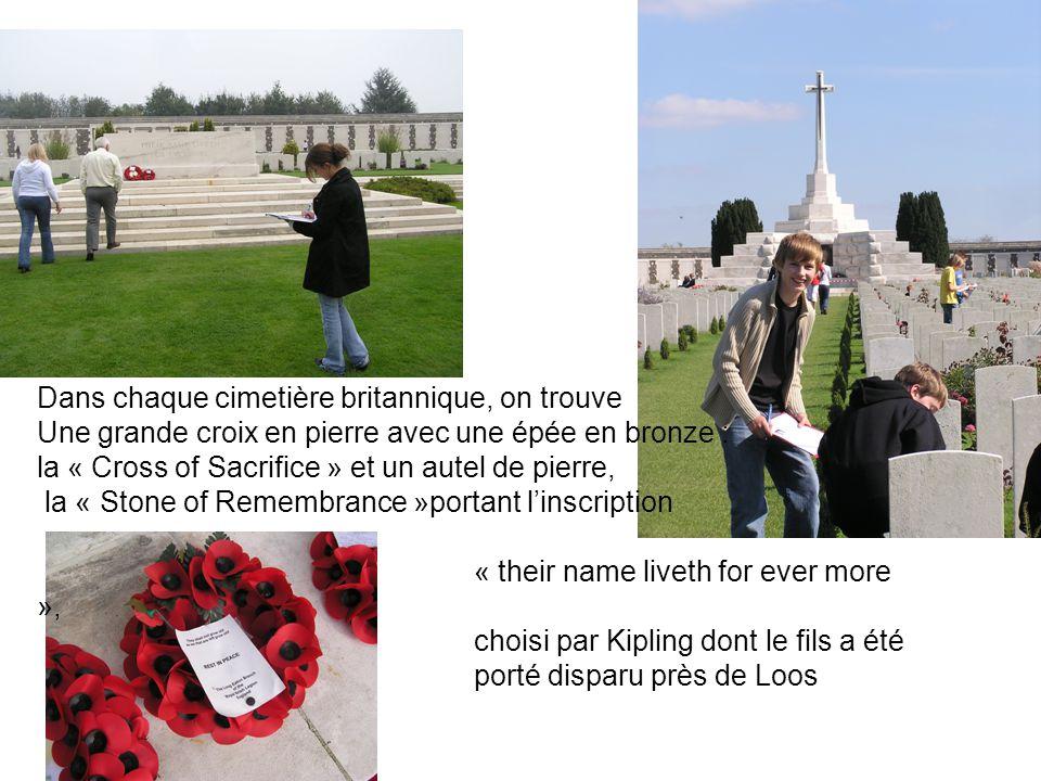 Dans chaque cimetière britannique, on trouve