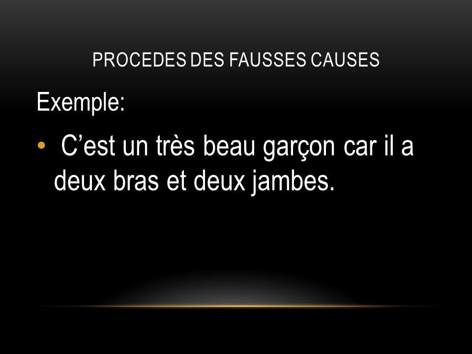 PROCEDES DES FAUSSES CAUSES