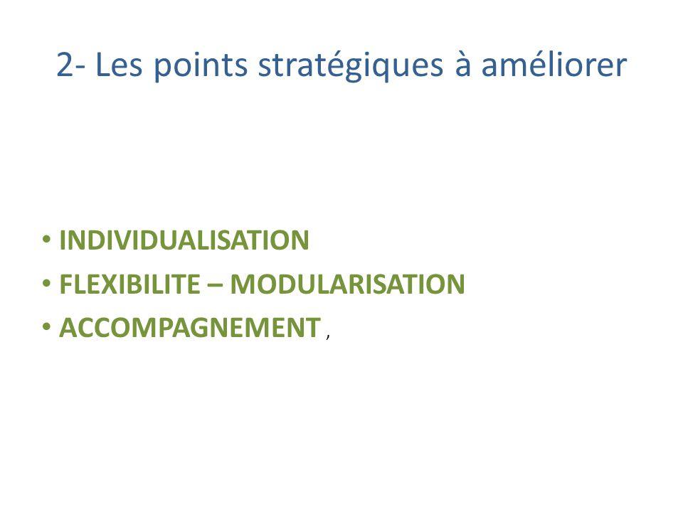 2- Les points stratégiques à améliorer