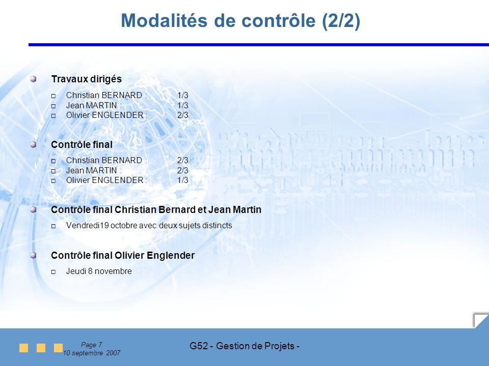 Modalités de contrôle (2/2)