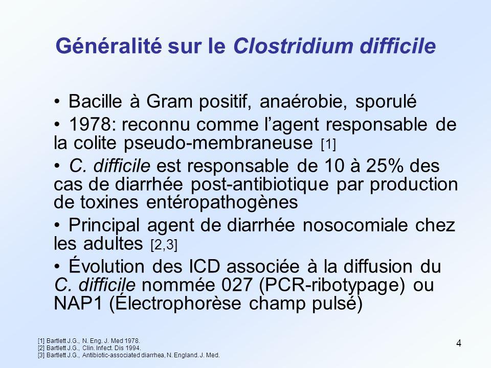 Généralité sur le Clostridium difficile