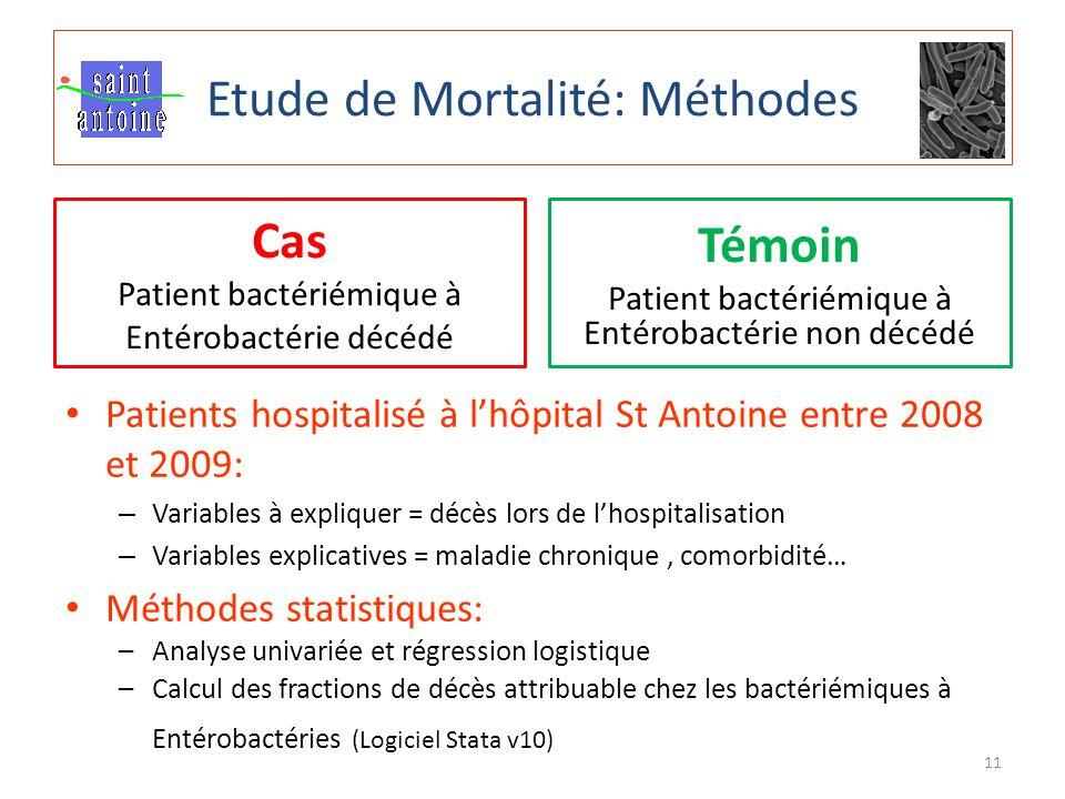 Etude de Mortalité: Méthodes