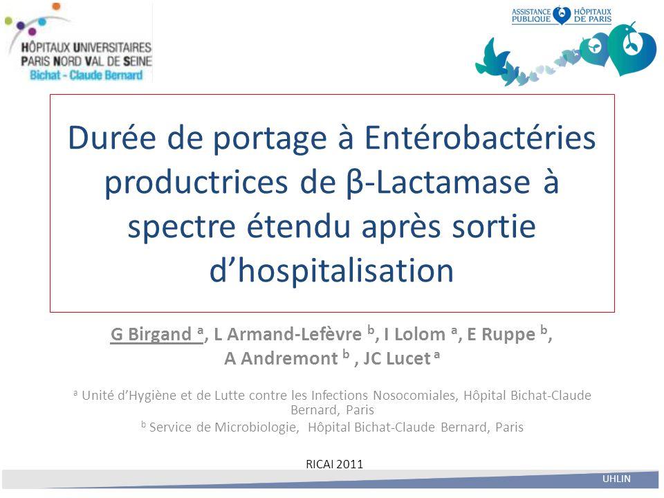G Birgand a, L Armand-Lefèvre b, I Lolom a, E Ruppe b,