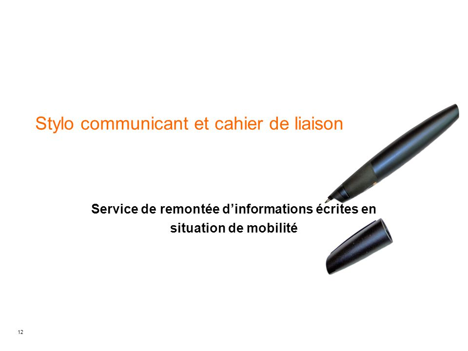Stylo communicant et cahier de liaison