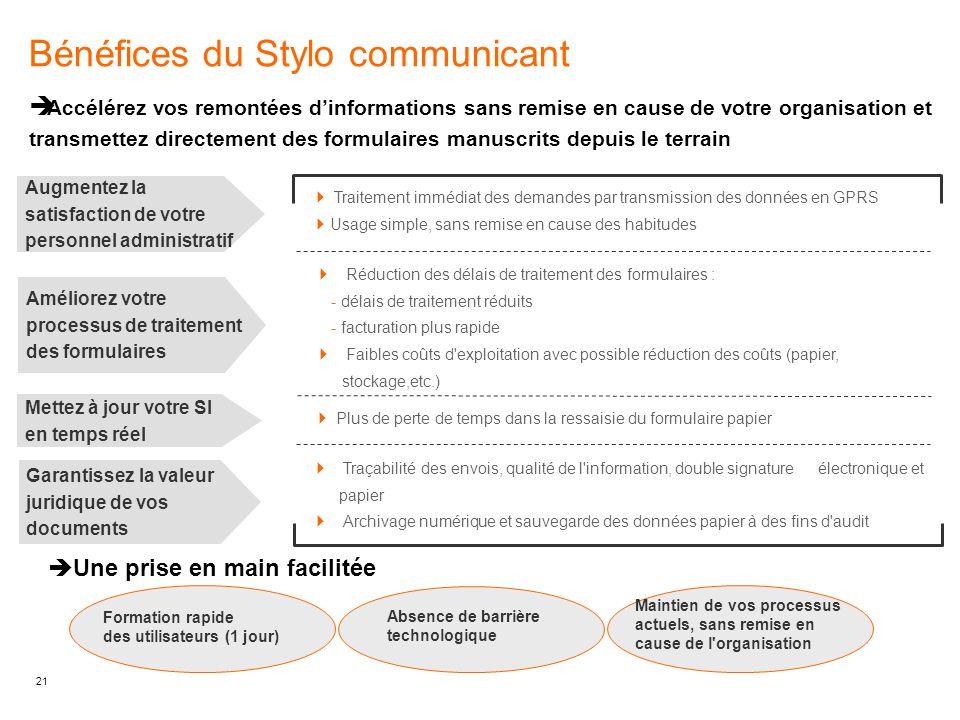 Bénéfices du Stylo communicant