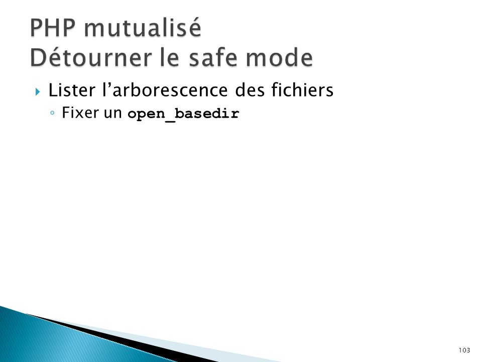 PHP mutualisé Détourner le safe mode