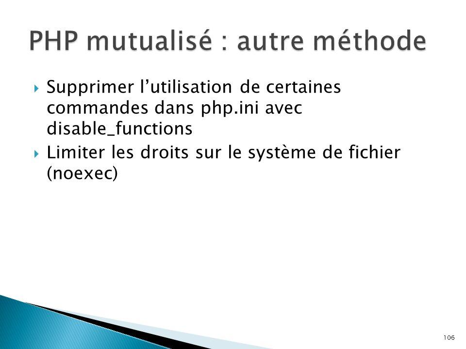 PHP mutualisé : autre méthode