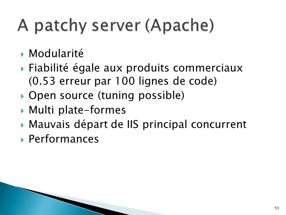 A patchy server (Apache)