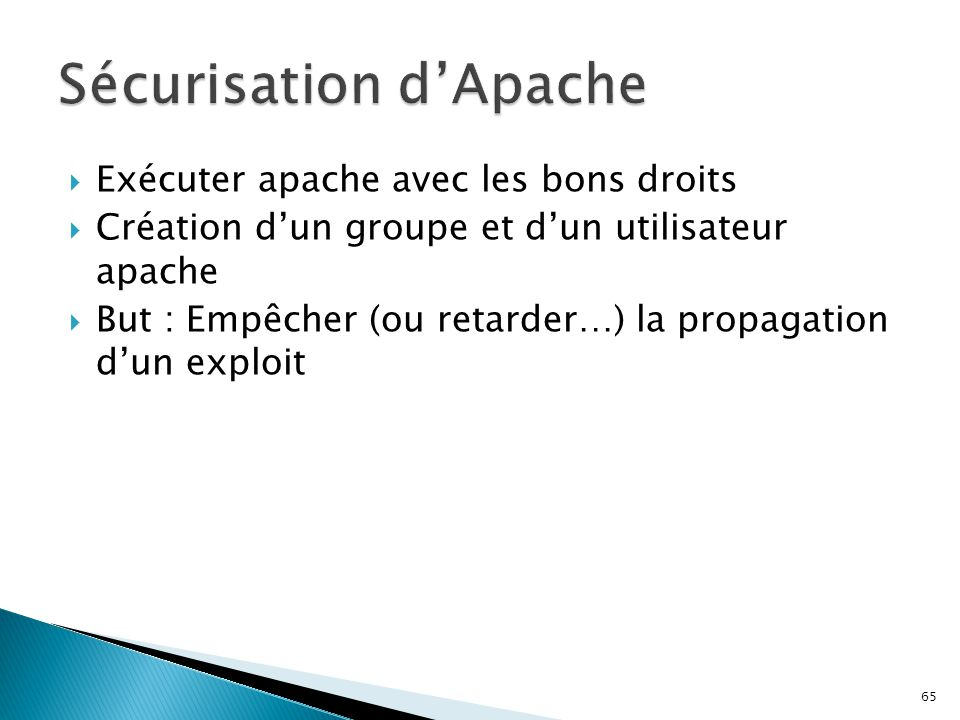 Sécurisation d'Apache