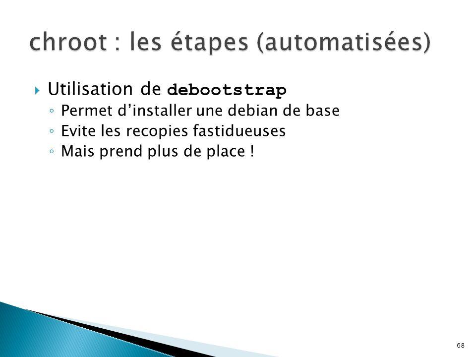 chroot : les étapes (automatisées)