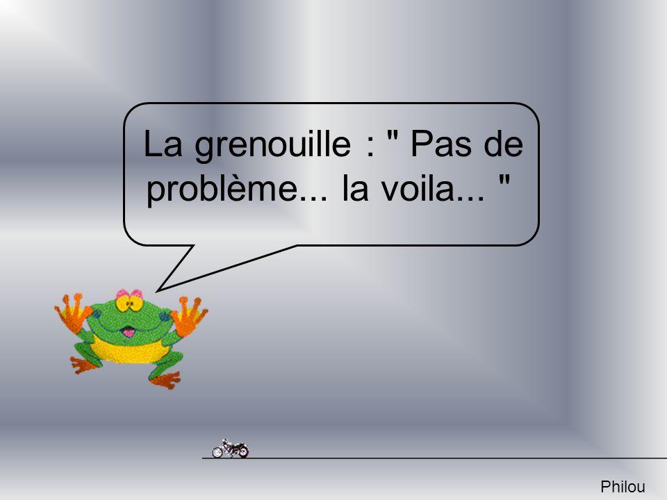 La grenouille : Pas de problème... la voila...