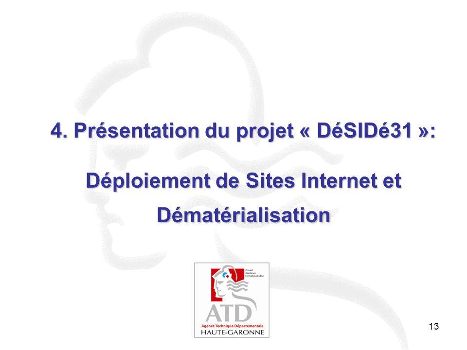 4. Présentation du projet « DéSIDé31 »: