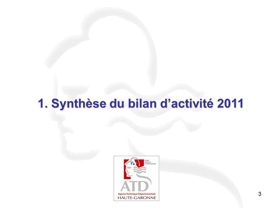 1. Synthèse du bilan d'activité 2011