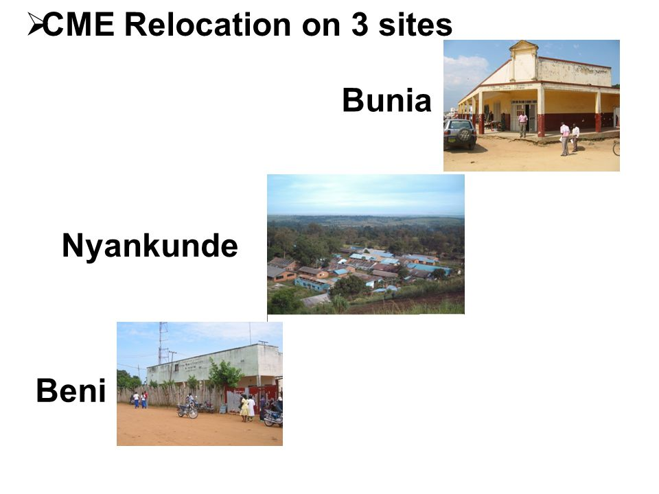 CME Relocation on 3 sites