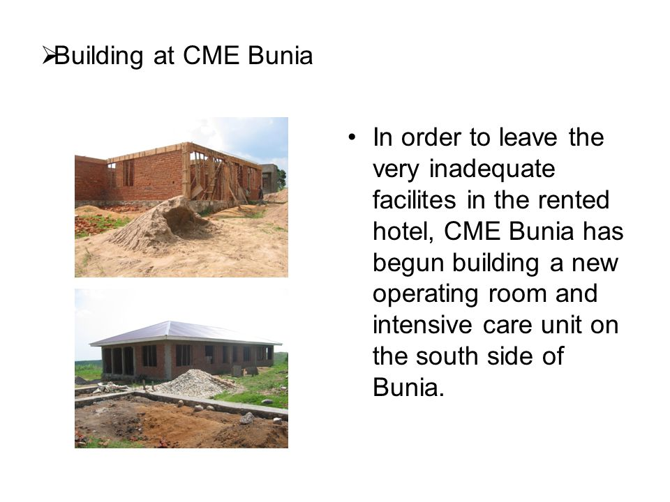 Building at CME Bunia