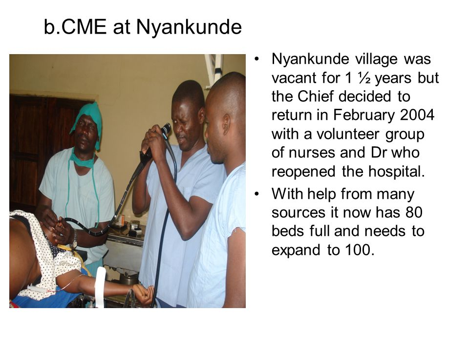 b.CME at Nyankunde