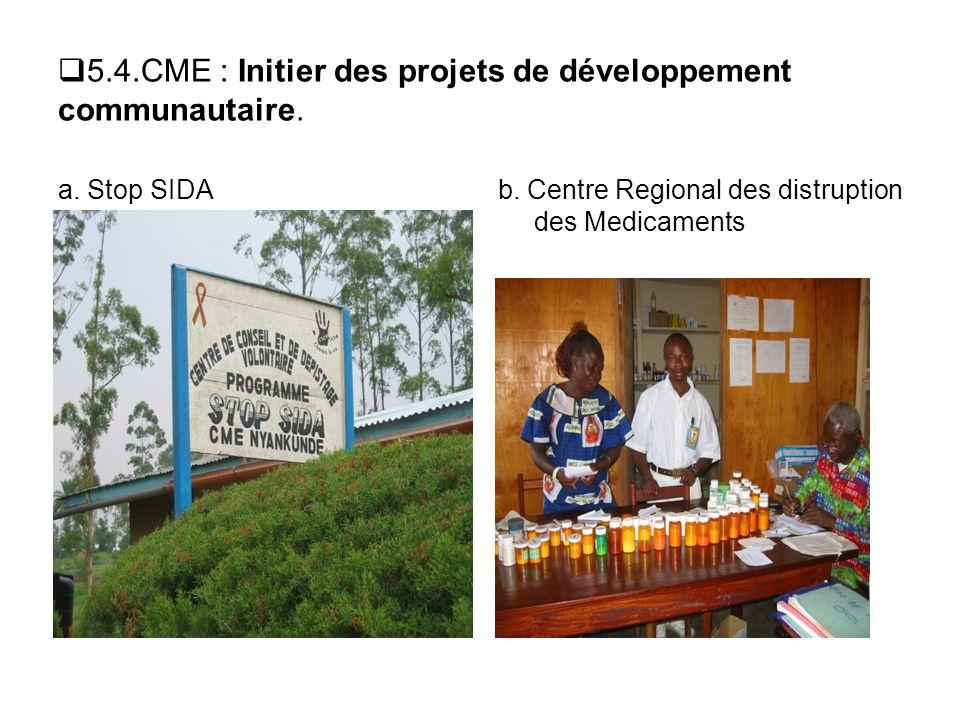 5.4.CME : Initier des projets de développement communautaire.