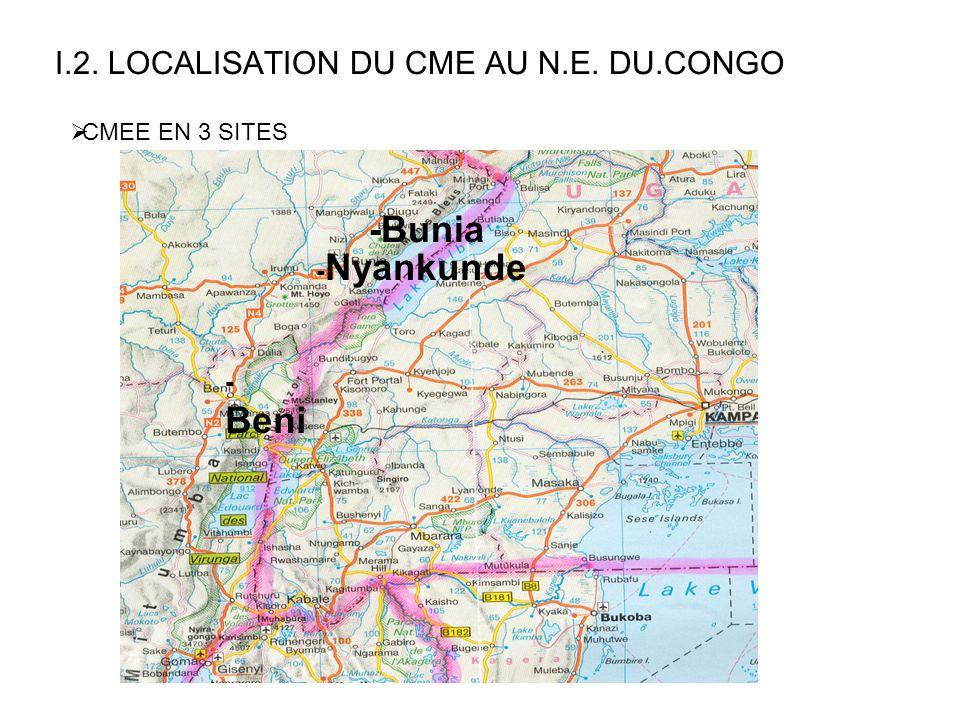 I.2. LOCALISATION DU CME AU N.E. DU.CONGO